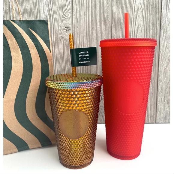 Starbucks anniversary studded tumbler bundle NEW!!